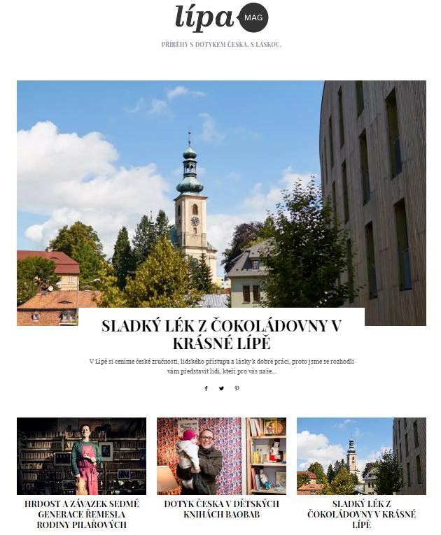 Blog k eshopu lipastore.cz založený na WordPressu a šabloně SimpleMag.