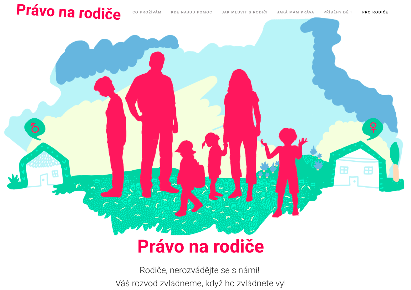 Web pomáhající dětem z rozvedených rodin.